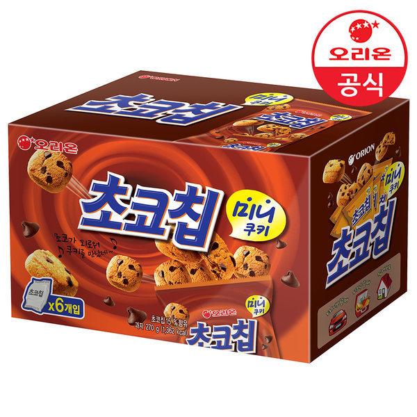 초코칩 미니쿠키 스낵팩 6개입 상품이미지