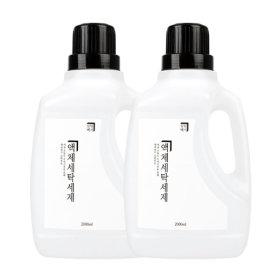 살림백서 세탁세제 1+1 천연유래95% 액체세제 (단하루)
