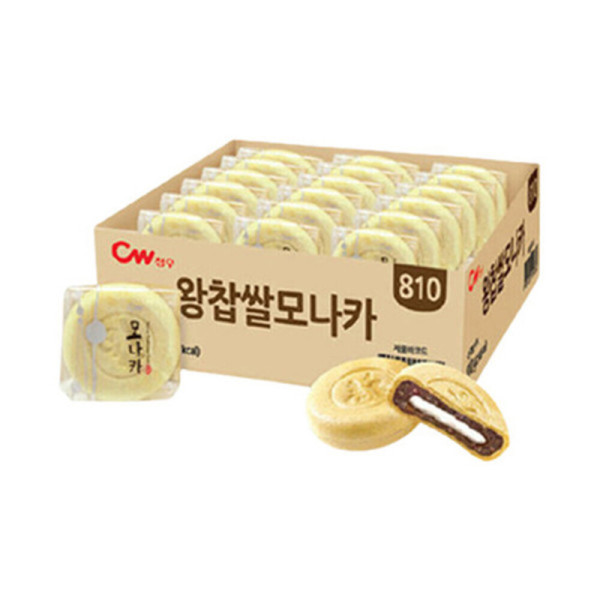 청우 왕찹쌀 모나카 27개입 810g/과자/간식/팥/찰떡 상품이미지