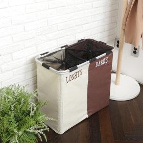 빨래바구니 라탄 세탁 욕실 바구니 용품 / 사각 (2단)
