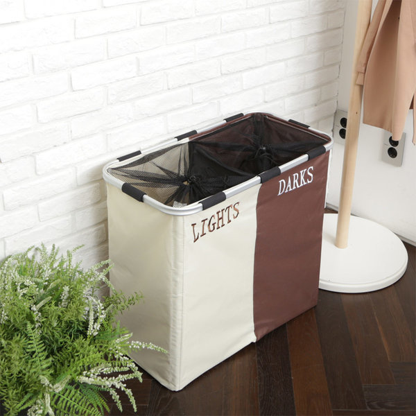 빨래바구니 라탄 세탁 욕실 바구니 용품 / 사각 (2단) 상품이미지