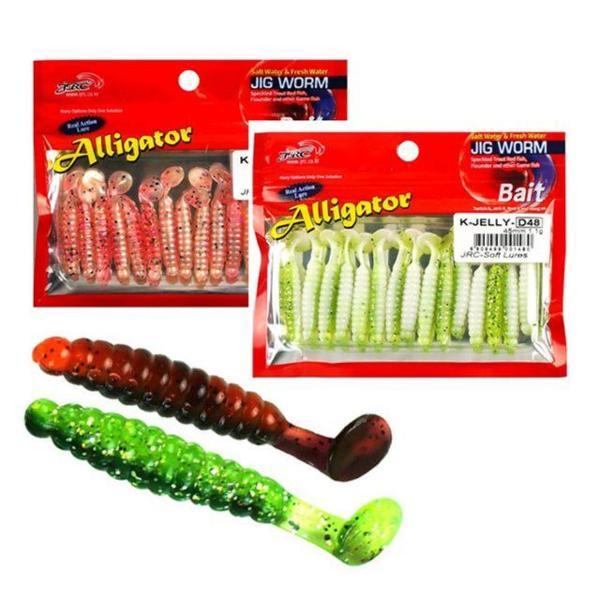 씨타임 JRC 쏘가리 투톤 웜 4.5cm 루어 낚시 미끼 상품이미지