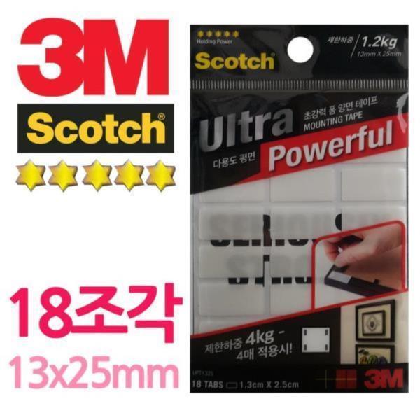 3M 울트라초강력 18조각 폼 양면테이프 상품이미지