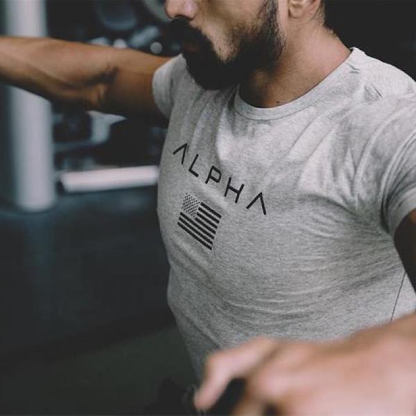 ALPHA 남성반팔티 남성 헬스 티셔츠 짐웨어 상품이미지