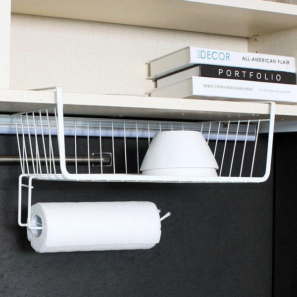 주방선반 겸용 키친타올걸이 주방정리용품/언더선반 상품이미지