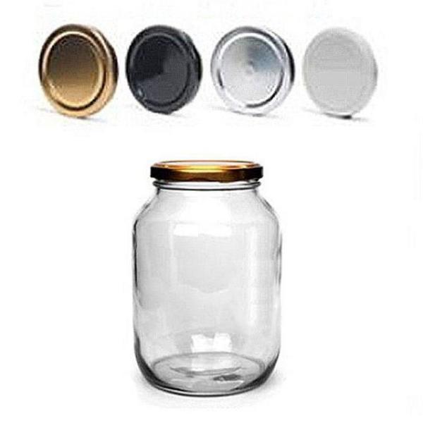 밀폐용기1000(850ml) (70mm 화이트뚜껑) 빈병 높은 상품이미지