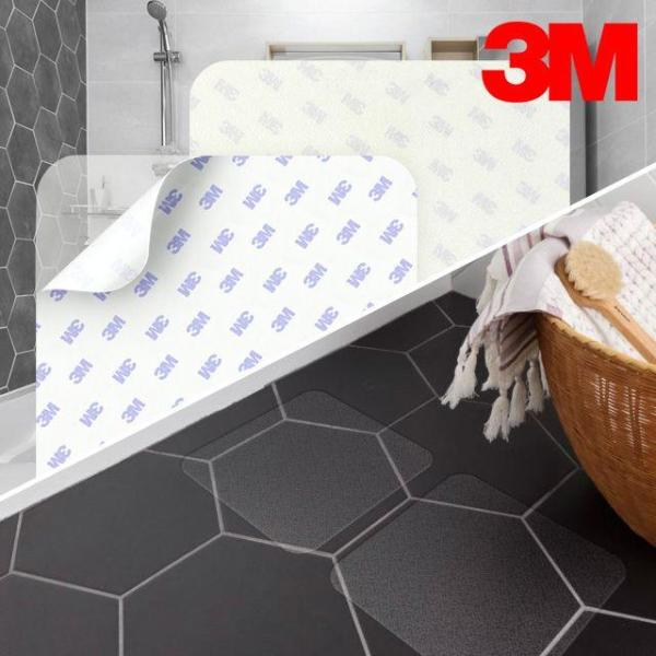 3M 세이프티워크 7640 욕실용 미끄럼방지 투명테이 상품이미지