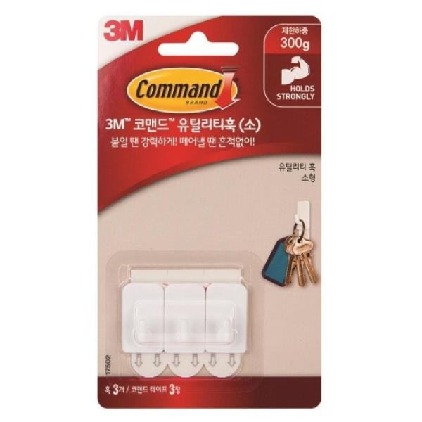 3M 코맨드 투명 훅 중형 17091 상품이미지