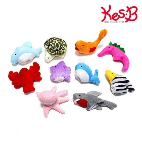 캐스B플레이 손가락 해양 인형 10종 인형놀이 인형 상품이미지