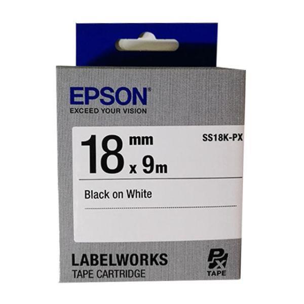 엡손 라벨테이프 SS18K 백색 흑글 18mm 카트리지 상품이미지