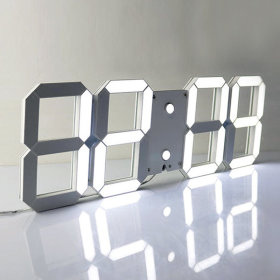 the Sweet 3D LED Wall Clock Table Clock Noiseless Alarm Clock