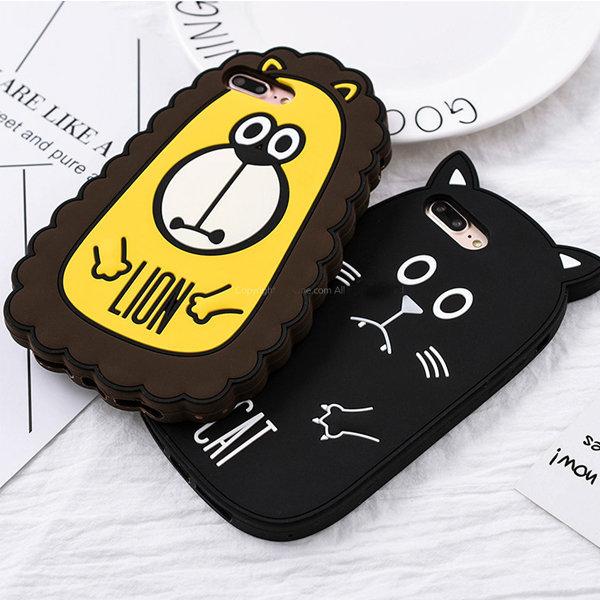 iphone 7 6 7+ 6+ 아이폰 시무룩 동물 실리콘 케이스 상품이미지