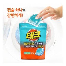 LG생활건강_테크슈퍼볼캡슐세제클린향리필_30개입