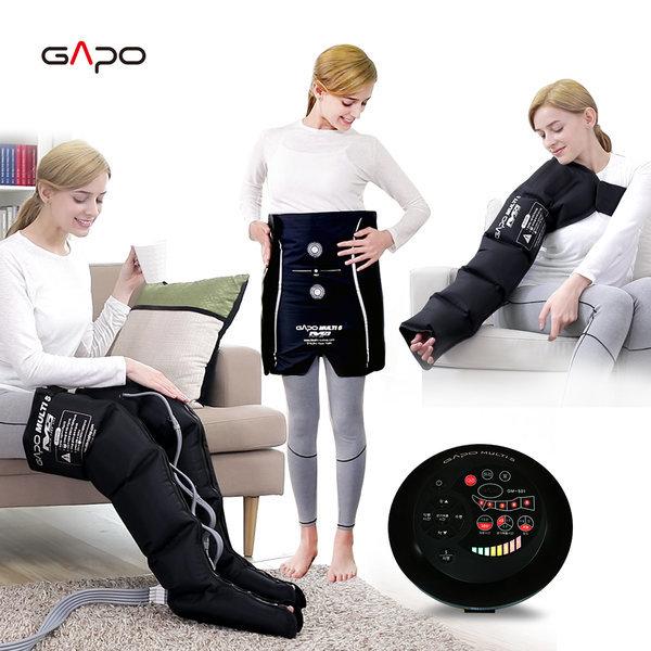 가포멀티5 블랙 풀세트 공기압마사지기 다리마사지기 상품이미지