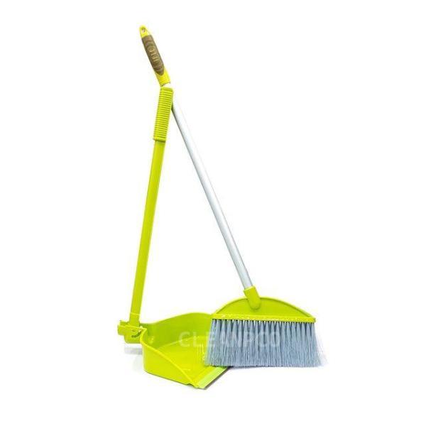 청결빗자루쓰레받이세트  (그레이) 빗자루 청소용 상품이미지