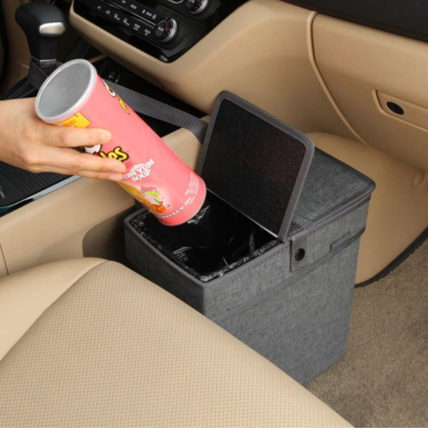 알라딘 차량용 쓰레기통 II (덮개형)/비닐50매포함 상품이미지