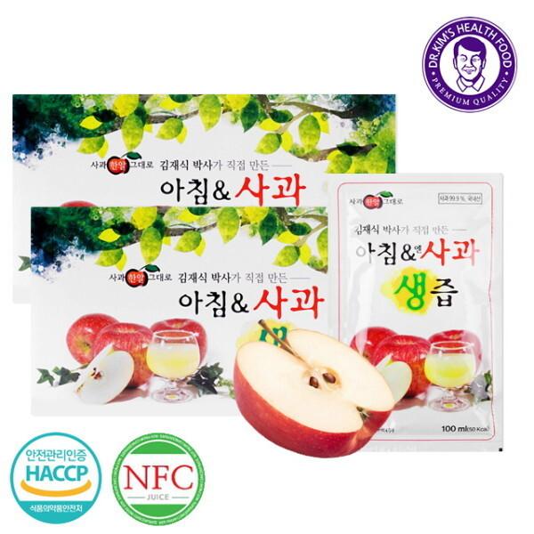 김재식헬스푸드  NFC 아침앤사과생즙 100ml 60팩(30팩 2박스) 상품이미지