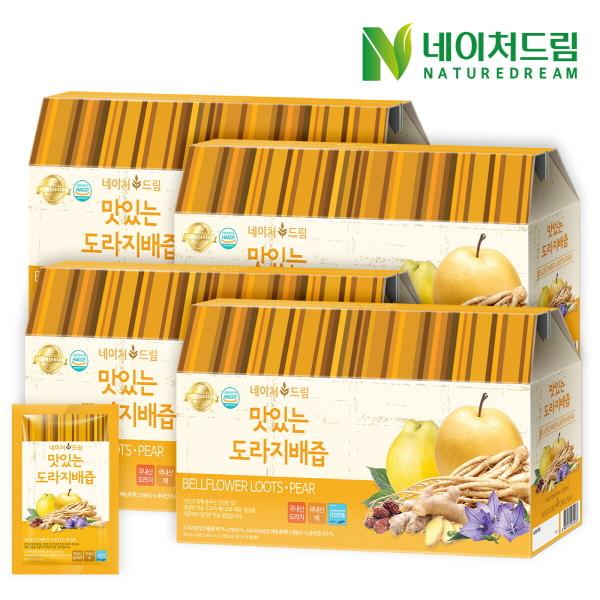 네이처드림 맛있는 도라지배즙 30포 4박스/건강즙 선물 상품이미지