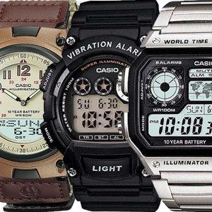 [카시오]카시오전자손목시계 남성여성디지털 군대군인알람방수