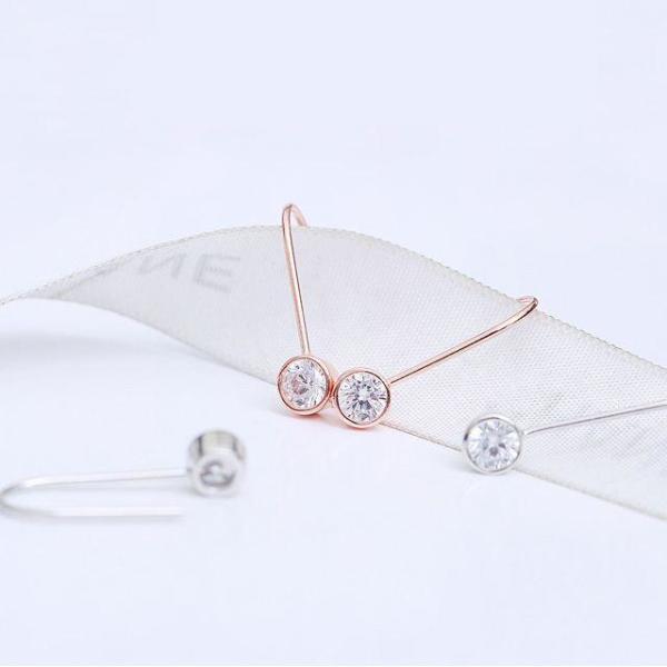 크로스 트라이앵글 92.5 Silver 은침 귀걸이 패션 상품이미지