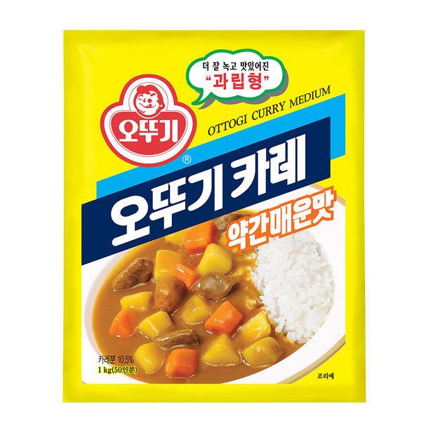오뚜기 카레 약간 매운맛 1kg /대용량 상품이미지