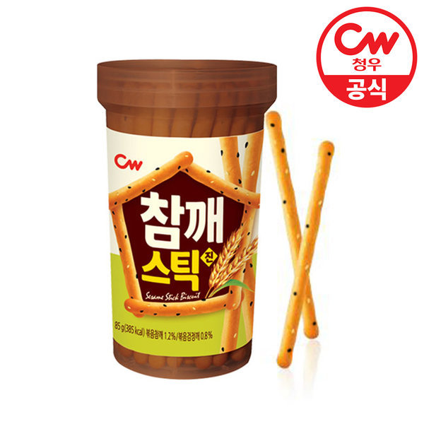 청우 참깨스틱 진 85g/쿠키/과자/간식/스낵 상품이미지