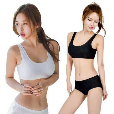 [herringbone] Rashguard bra top/innerwear set