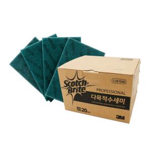 3M/스카치브라이트/다목적수세미/1박스/20매
