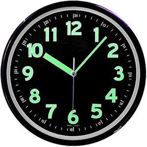 무소음 야광벽시계 블랙 31cm 야광시계 벽걸이시계