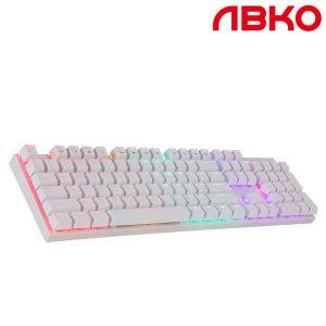 [ABKO] K640 LED 게이밍 기계식 키보드 청축화이트+스마일배송