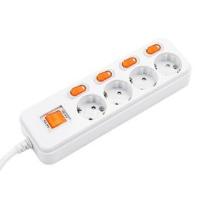 [현대일렉트릭] 현대 멀티탭 개별형 4구 1.5M (16A) kC인증/난연1등급