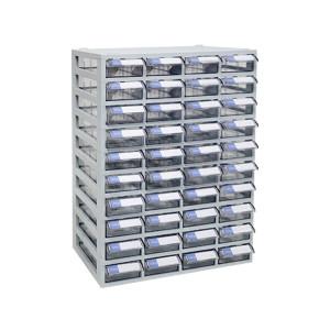 투명수납함 40칸(소형)다용도플라스틱서랍장 책상정리