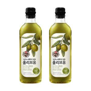 [백설] 올리브유 900ml 2개