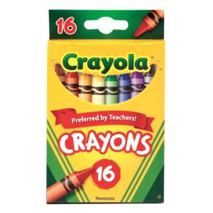 [크레욜라] 크레욜라 일반크레용16색 크레파스 미술용품 색연필