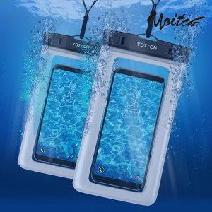 [요이치] 1+1 핸드폰 휴대폰 방수팩 레릭 화이트+화이트