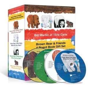 노부영 에릭칼 Bear 보드북 4종 세트 (Board Book   CD Set) : Brown Bear Brown Bear What Do You See  + Panda ...