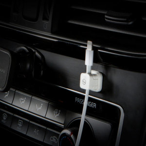 [신지모루] 블랙-마그네틱 단선방지 차량용 케이블 선정리 홀더