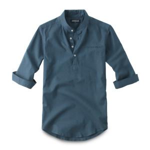 칠부 린넨 헨리넥 셔츠 남방 150. 남자셔츠 남자남방