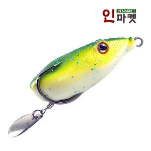 씨타임 프로그 6cm 개구리 웜 가물치 배스 루어