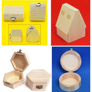 나무보석함(미니발/육각/집모양/원형)DIY