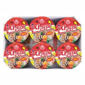 [진라면] 오뚜기 진라면컵 매운맛 65G 6