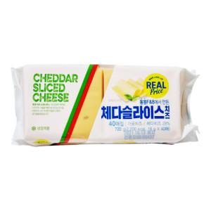 [동원에프앤비] 리얼 소와나무 체다 슬라이스 치즈 40매
