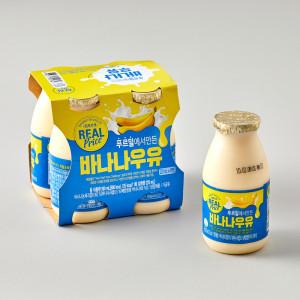 [리얼프라이스] 리얼 바나나 우유 225ml x 4입