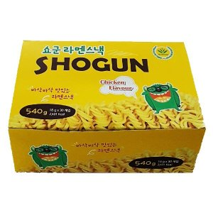 쇼군 라멘스낵 치킨맛 (18g X 30봉) 라면땅 540g