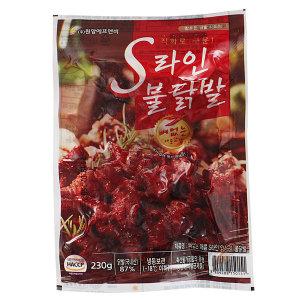국내산닭발/뼈없는송이불닭발/s라인양념닭발 230gX5팩