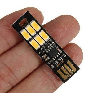 MINI 터치 랜턴 USB 모바일 전원 캠핑 램프 6 LED