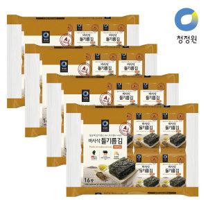 [청정원] 들기름 바사삭김 (4g 16봉) x 4개 (1box)