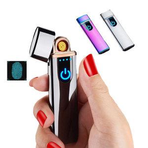USB충전식 LED 전기라이터 지문터치센서
