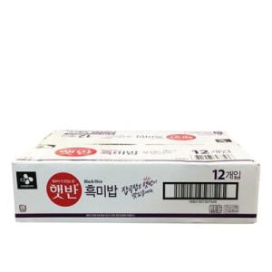 [햇반] CJ 햇반 흑미밥 210G 12