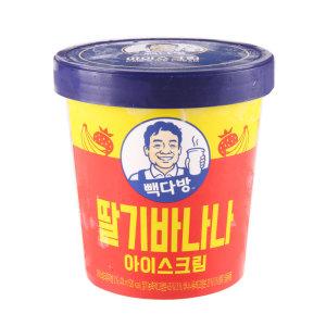 [롯데푸드] 롯데푸드 빽다방딸기바나나파인트 474ML